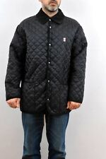 Armata di Mare Italy Navy Army Quilted Jacket Mens Nylon Vintage 90s Black L VGC