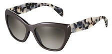 RARE Genuine PRADA Ladies POEME Collection Dark Brown Sunglasses PR 02QS SPR 02Q