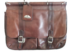 Samsonite Leather Business Bag Sachel with Removable Insert Heavy