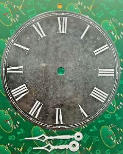 Round Black Roman Numeral Metal Clock Dial - 2 Sizes (NEW)