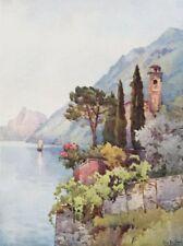 ITALY. Lake Lugano. Oria, Lago di Lugano 1905 old antique print picture