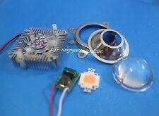 10w full spectrum led grow chip+10Watt Driver + 44mm Lens+10w Heatsink diy