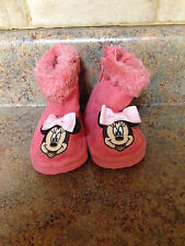 TODDLER GIRL'S MINNIE MOUSE BOOTS-SIZE: 0-6 MONTHS