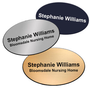 OVAL Company Staff Name Badge Apprentice Trainee Healthcare Retail  + Fonts