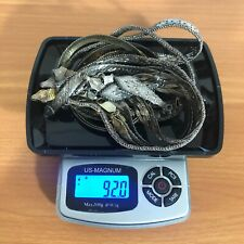 92 Grams of Wearable Sterling Silver ITALY .925 Bracelets & Necklaces ~ 3 oz