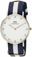 Daniel Wellington Armbanduhren mit Textilgewebe-Armband für Damen