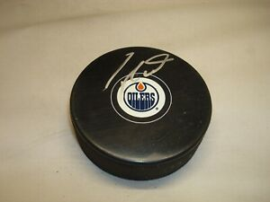 Taylor Hall Signed Edmonton Oilers Hockey Puck Autographed 1A