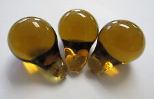 3 - Antique Czech Glass Fruit Amber Pears from Fruit Chandelier
