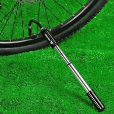 Portable Bicycle Hand Pressure Air Tyre Ball Pump Schrader Presta Valve L7B8