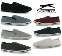 Mens Slazenger Canvas Slip on Pumps Shoes Trainers Espadrilles Plimsolls Sz 6-12