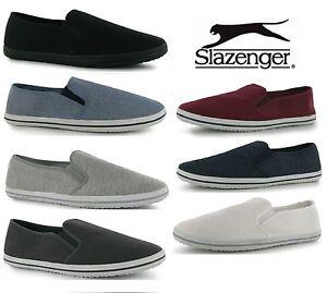 Mens Slazenger Canvas Slip on Pumps Shoes Trainers Espadrilles Plimsolls Sz 6-12