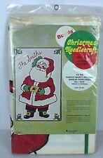 Bucilla Christmas Needlecraft Kit 1626 Santa's Hearty Welcome Jeweled Door Panel