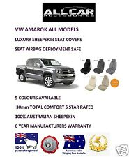 Sheepskin Car Seatcovers VW Amarok, Seat Airbag Safe , 30mm TC ,Five Colours.