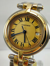 Cartier Panthere Vendome 183964 Medium Size 30mm Stainless Steel-2 Row 18k Gold