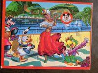 Vintage Three Caballeros Walt Disney Mickey Mouse Club Jaymar inlaid puzzle