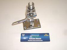 """Shakespeare 4187 Stainless Steel Marine Antenna Ratchet Flush Mount 1""""-14 Thread"""