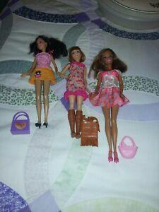 Bundle Of 3 Teenage Dolls Including Barbie Dressed