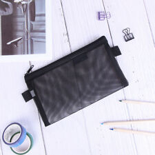 Clear Exam Pencil Case S/L Transparent Simple Mesh Zipper Stationery Bags ATUS