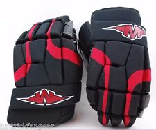 """Mission Hockey Soldier Senior Protective Ice/Roller Hockey Glove 15"""" Blk/Red"""
