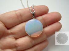 Opalite Pendant Necklace Sea Opal pendant 925 Silver Plt ladies necklace gift UK