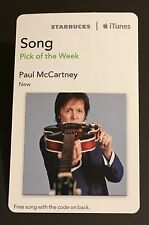 Paul McCartney - Beatles re / Starbucks 2013 iTunes Card / New