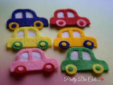 Felt Toy Cars (6), Die Cut Craft Embellishments