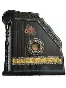 Harfen-Zither mit unterlegbaren Notenblätter, Sammlerstück