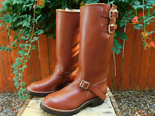 "USA Vintage Wesco Boss Engineer Motorcycle 18"" Tall Redwood Boots 10.5D PT91"