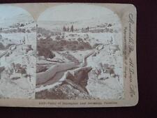 Stereoview Keystone View Company Valley Of Jehosaphat Jerusalem Palestine (O)