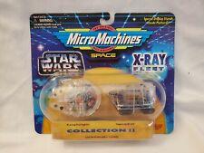 Star Wars X-RAY FLEET 1995 ERROR Millennium Falcon Sandcrawler wrong label MOMC