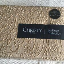 Christy Square Avalon  Pillowshams x 2  65x65cm Champagne  BNIP