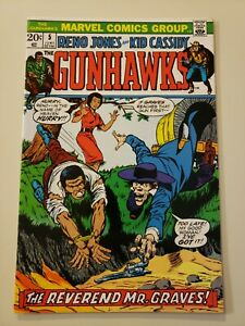 GUNHAWKS # 5. Marvel. June 1973. VF/NM 9.0 or HIGHER! Beautiful Off White Pages.