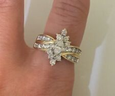 DIAMOND MARQUIS ENGAGEMENT RING 1.30 CT SIZE 7.25 14K YELLOW GOLD
