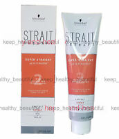 Schwarzkopf Strait Therapy 2 Two Colored Hair Straightening Cream FREE reg post