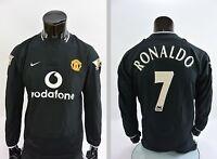 2003-2005 NIKE Manchester United Away Shirt Ronaldo 7 Long Sleeve SIZE M adults