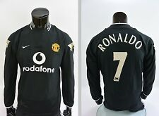 2003-2005 NIKE Manchester United Away Shirt Ronaldo 7 Long Sleeve SIZE M adults