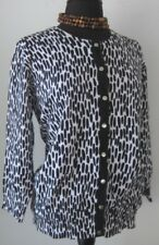 Michael Kors Women's Cardigan Sweater Snap Black White Size 1X excellent