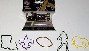Lot of 3 NFL New Orleans Saints Silly Logo Bandz/Bands Bracelets 20 pack *NEW*