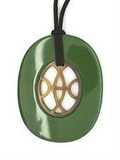 camilieri Horn Anhänger Kette Hornanhänger braun oliv grün NEU