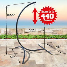 Hammock C-Frame Stand Steel Swing Holder for Hanging Chair