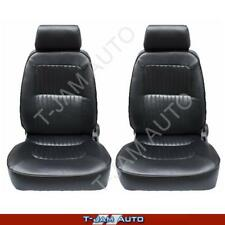 Deluxe Classic Pair 2 x Black Leather Car Bucket Seats - Jaguar NEW