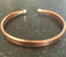 Unisex Pure Copper Flat Clip ON Bracelet Cuff Adjustable Size Hindu Kada Kara