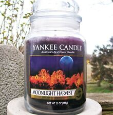 "Yankee Candle Retired ""MOONLIGHT HARVEST"" Fresh ~ Large 22 oz.~ RARE ~ NEW"