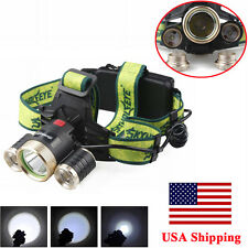 Skywolfeye 60000LM 5Mode HeadLamp Bright Light Lamp XML 3x T6LED Headlight
