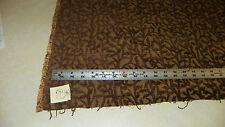 Brown Beige Chenille Print Upholstery Fabric 1 Yard R101