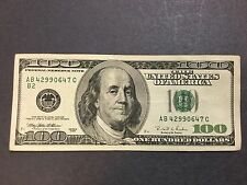 """$100 Dollars Bill Series 1996 (New York), """"Older Style"""" Federal Reserve Banknote"""