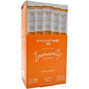 LifeAid ImmunityAid Go Immunity Boost Hydration Sticks - 14 Count - Orange Burst