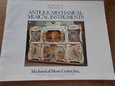 1981 ANTIQUE MECHANICAL MUSICAL INSTRUMENTS FALL WINTER No 9 Connecticut Mag