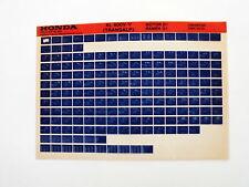 Honda XL600 V-V Transalp Anno 1996 Microfilm Catalogo ricambi Parti