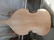 Hand made white upright bass body 3/4,spruce top plywood back maple pasted